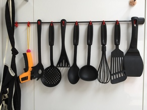 Kitchen Hooks And Rod Mounts (Organizer, NO DRILLING REQUIRED)