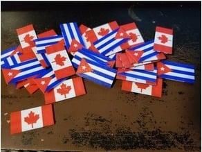multi material CANADA/CUBA flags