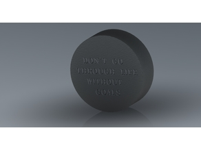 Hockey Puck with Quote