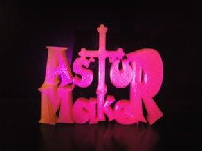 AsturMaker 3D Logo