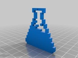 My Customized Design your own  pixel art Pendant