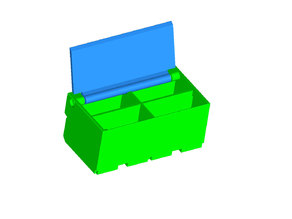 Modular Breadboard Kit V2 - small double box module with lid (with STEP file)