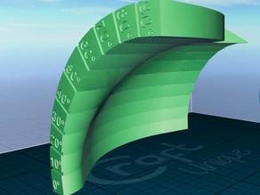Curved overhang test