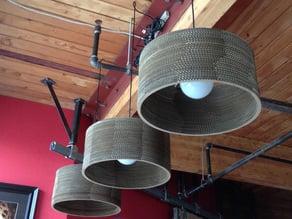 Cylinder Cardboard Lamp (17 inch)