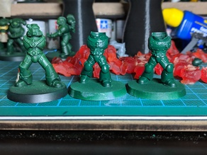 11 pairs of power armour legs - 28mm heroic - more detail