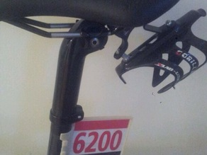 Triathlon number holder for bike