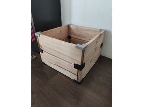 Connectors to make DIY wooden boxes
