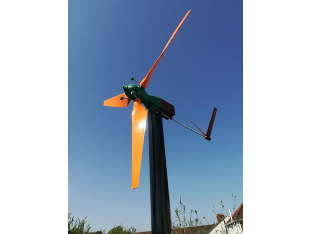 graphic relating to 3d Printable Wind Turbine called MKIII 50 Watt 3d printable Wind Turbine as a result of Newmanxxx