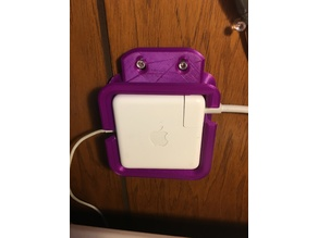 Macbook 85W Charger with Cord Cutout & Mounting Tab