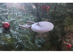 Enterprise D Christmas Ornament
