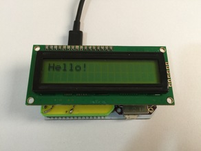 16x2 LCD backpack for the Onion Omega