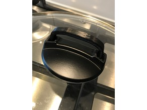 Handle for glass lid for cooking pot / pan