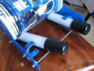 Battery tube clip holder for OpenROV