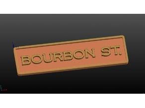Bourbon St. Bar Sign