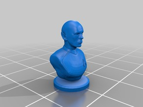 A bust of bald Spock.