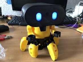 3D Printed head for Zobbie - A Raspberry Pi Hexapod