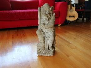 Arjuna the Balinese Hindu Temple Guardian!
