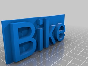 G-Scale, (Gauge) Bike Hire sign
