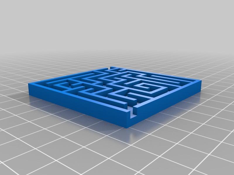 3D/2D Maze Generator (Blender/Python Script) for 3D Printers