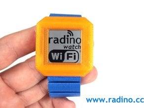 "Watch/wristwatch housing with 32mm LCD display, Aduino compatible microcontroller, WiFi module, LCD-Display, 9 axis sensor and accumulator; ""radino Watch"""