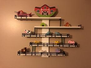Ikea Lustigt Shelf Longer Railings and matching side rails