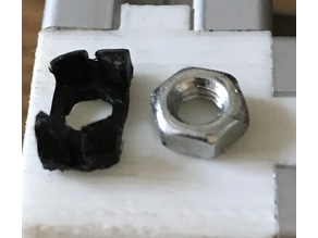 T Nut M4 with Nut Fixation Rotating for Extrusion with 6 mm Gap