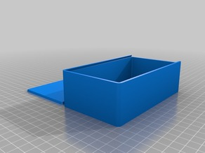 My Customized Parametric Box with Sliding Lid 80x140x40