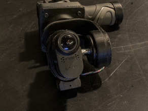 G34, Gimbal 2 axis stand-alone for Sony AS e Gopro2,3, for use by hand