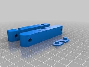 Customizable RepRap filament holder