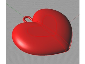 Plain heart christmas ornament