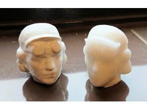 Head from Women of Steel sculpture in Sheffield