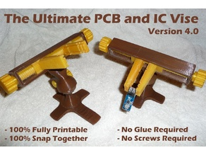 Ultimate PCB and IC Vise – Version 4 - Printable Vise for Small Electronics
