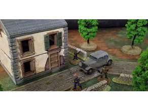 28mm scale Normandy house