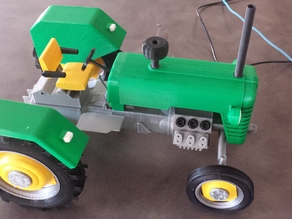 John Deer M series tractor.