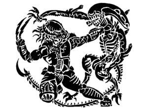 Alien vs Predator stencil