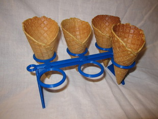 Home-made Ice Cream/Waffle Cone Holder