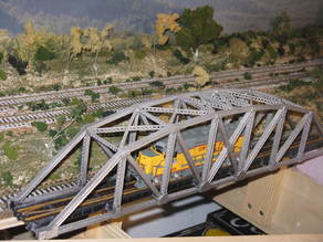 HO Scale 145 ft Steel Arched Truss Bridge