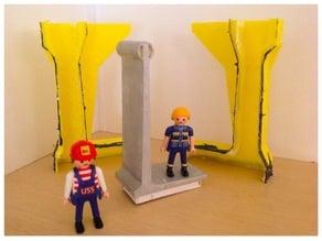 Berlin Wall segment Playmobil Scale