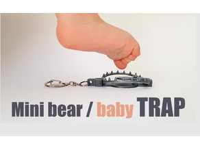 Mini bear trap keychain
