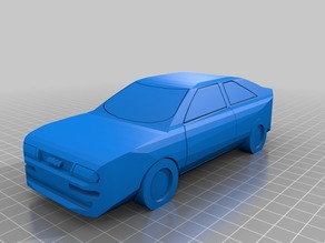 Audi coupe low poly