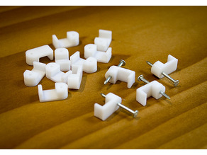 Customizable  Coax & Speaker Wire Clips