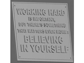Work Hard Plaque
