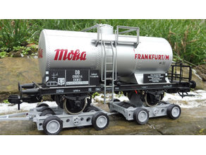 Culemeyer trailer (Strassenroller) for 1-Gauge (1/32).