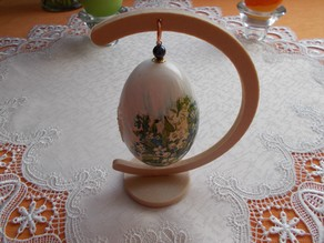 Stand for easter egg / christmas bauble