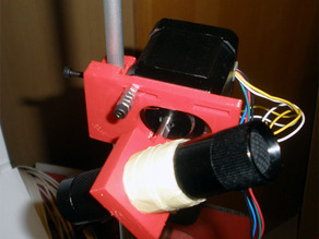 steppermotor and laserpointer carriage for 3D laserscanner