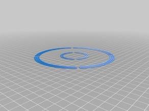 Circular Printbed Calibration Pattern v2