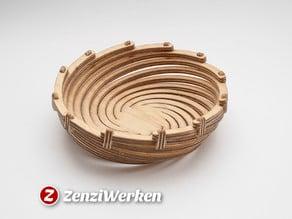 Bend Spiral Bowl cnc/laser