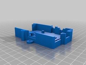 Raspberry Pi (Model B) case with side mounts for M3 screws