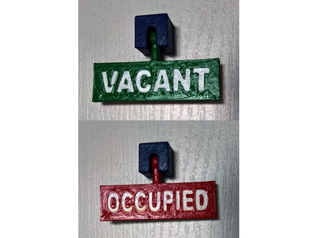 Brilliant Bathroom Occupied Vacant Sign By Yaume Home Interior And Landscaping Elinuenasavecom