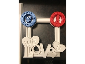 WE LOVE U picture frame with Spots for Logos